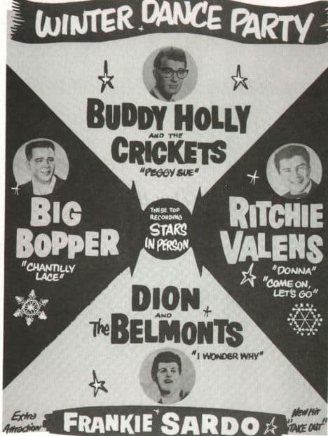 Buddy Holly – Big Bopper – Ritchie Valens – Winter Dance Party
